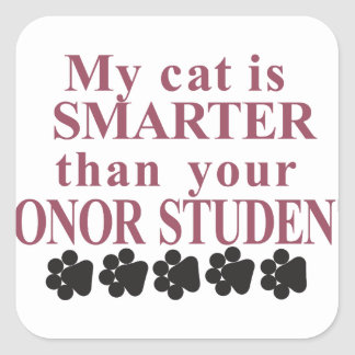 Smarter Cat Square Sticker