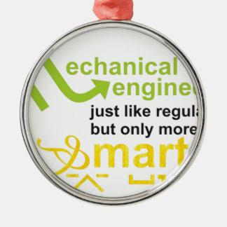 smarter metal ornament