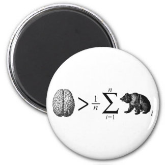 Smarter Than The Average Bear 2 Inch Round Magnet