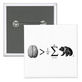 Smarter Than The Average Bear 2 Inch Square Button