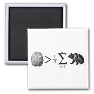 Smarter Than The Average Bear 2 Inch Square Magnet
