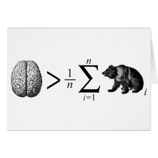 Smarter Than The Average Bear Greeting Card