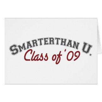 smarter than you (graduate) card