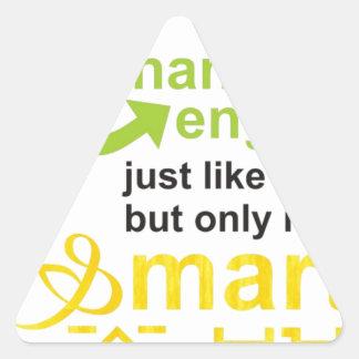 smarter triangle sticker