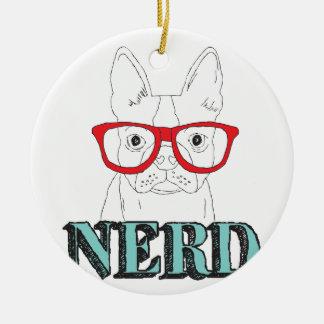 Smartest Boston Terrier Ceramic Ornament