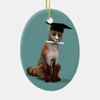 Smartest Fox In Town Christmas Ornament