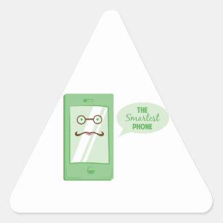 Smartest Phone Triangle Sticker