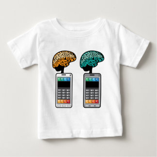 Smartest Phone vector with a Brain Baby T-Shirt
