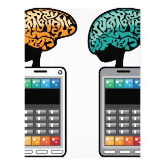 Smartest Phone vector with a Brain Letterhead