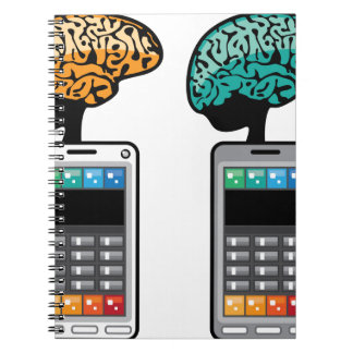 Smartest Phone vector with a Brain Notebook