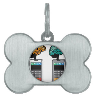 Smartest Phone vector with a Brain Pet ID Tag