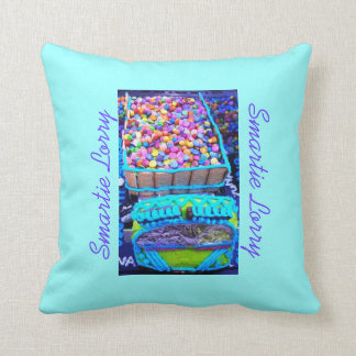 Smartie Lorry Cake 2 Throw Pillow