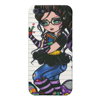 Smartie Pants Nerd School Girl by Hannah Lynn Cover For iPhone SE/5/5s