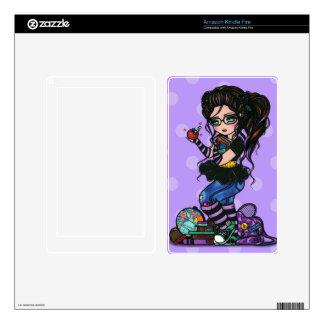 Smartie Pants School Girl Art e-Reader Tablet Skin Kindle Fire Decal