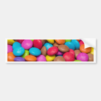 Smarties Candy background Bumper Sticker