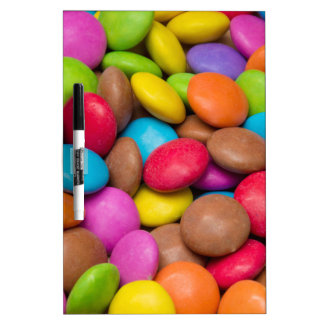 Smarties Candy background Dry-Erase Board