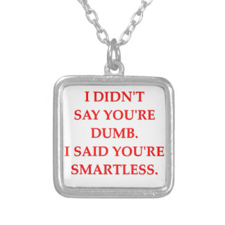 smartless square pendant necklace