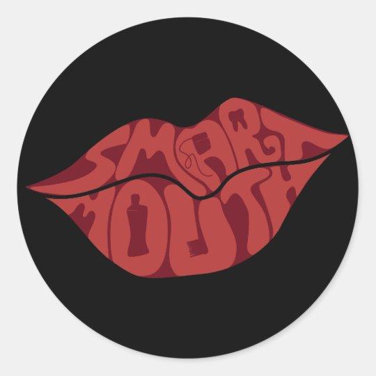 Smartmouth Classic Round Sticker