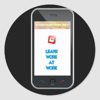 Smartphone advice classic round sticker