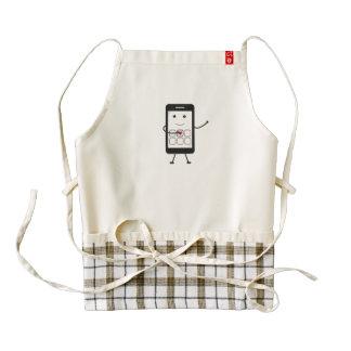 Smartphone amistoso delantal zazzle HEART