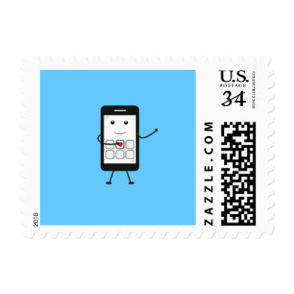 Smartphone amistoso sello