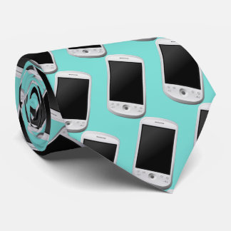 smartphone, android. teal green. tie