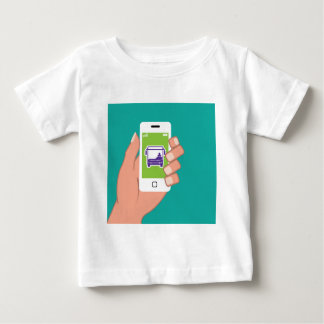 Smartphone application Bus service Online Baby T-Shirt