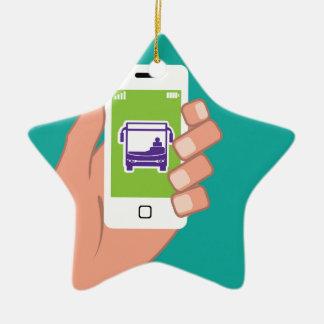Smartphone application Bus service Online Ceramic Ornament