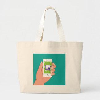 Smartphone application Bus service Online Large Tote Bag