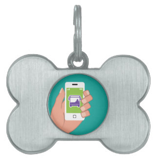 Smartphone application Bus service Online Pet Name Tag
