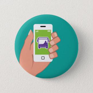 Smartphone application Bus service Online Pinback Button