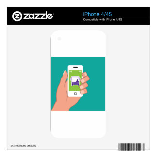 Smartphone application Bus service Online Skin For iPhone 4