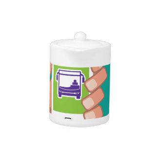 Smartphone application Bus service Online Teapot