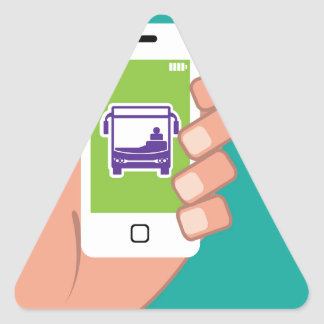 Smartphone application Bus service Online Triangle Sticker