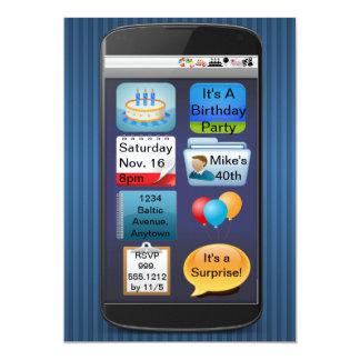 SmartPhone Birthday Party Invitation