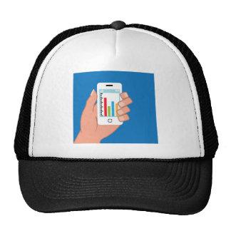 Smartphone con un gráfico gorra