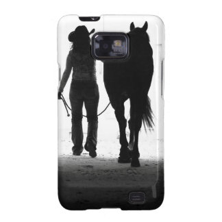 Smartphone cover - cowgirl w/horse samsung galaxy cover
