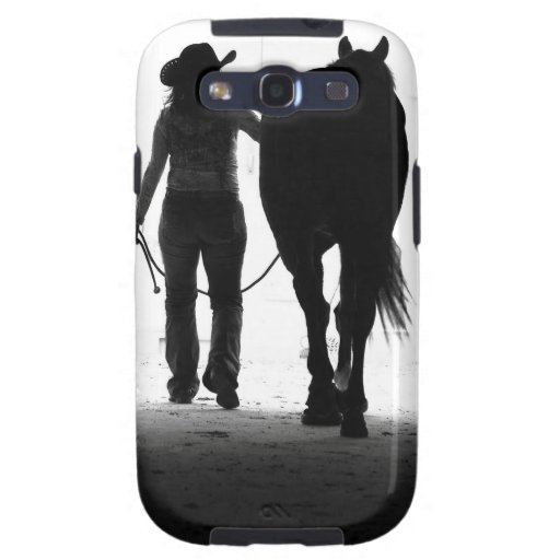 Smartphone cover - cowgirl w/horse galaxy SIII cases