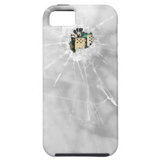 Smartphone de cristal roto divertido funda para iPhone SE/5/5s