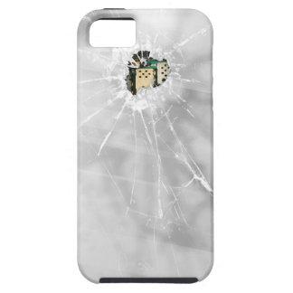 Smartphone de cristal roto divertido iPhone 5 carcasas