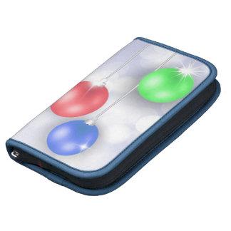 SmartPhone Folio - Red Green Blue Ornaments Organizer