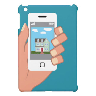 Smartphone in hand with house picture iPad mini case