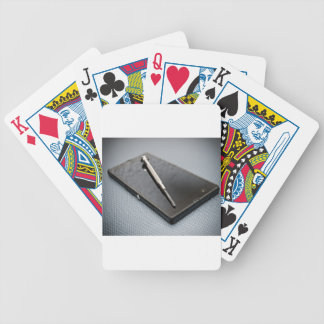 Smartphone service bicycle poker cards