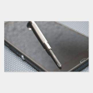 Smartphone service rectangular sticker
