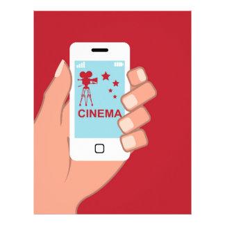 Smartphone vector Cinema App Letterhead
