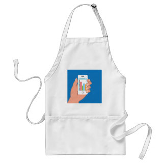Smartphone with a graph adult apron