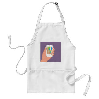 Smartphone with a map App Adult Apron
