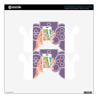 Smartphone with a map App Skin For PS3 Controller