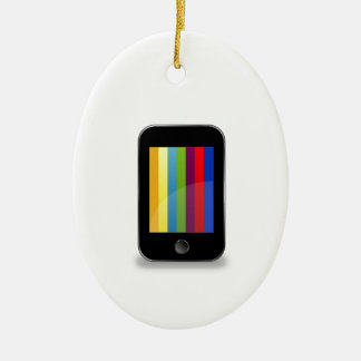 Smartphone with colorful screen ornament