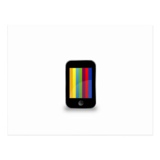 Smartphone with colorful screen postcard